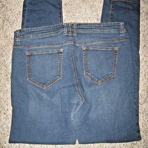 Dark Blue Skinny Fit Stretch Jeans 15 36 x 32